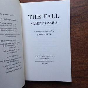 "Vintage Accents - Albert Camus ""The Fall"""